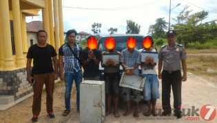 Polisi Ringkus Pencuri Aset Milik Pemkab Rohil, Ini Para Pelakunya