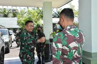 Danrem 023/KS Terima Kunjungan Brigjen TNI Donni Hutabarat Mantan Korem