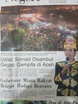 Ustaz Somad Hadir Peringatan 13 Tahun Gempa dan Tsunami Aceh Disambut Ribuan Masyarakat
