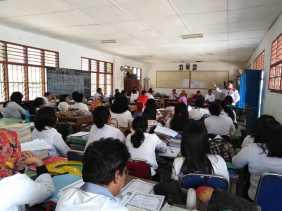 Berkunjung ke SMPN 1 Payung, Kadisdik Karo Memotivasi Guru Terkait Peningkatan Pendidikan