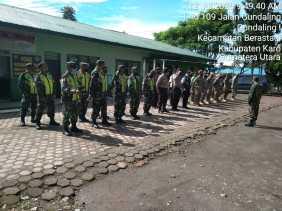 Menuju New Normal, TNI - Polri dan Satpol PP Gelar Patroli Gabungan di Kabanjahe dan Berastagi