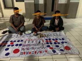 Polres Karo: 1 Bandar, 2 Ceker Tertangkap Tangan  Bermain Judi Dadu Koplok di Desa Tanjung Pulo
