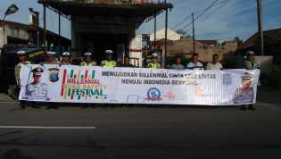 Safety to Zeroaccident, Satlantas Polres Tanah Karo Gelar Millenial Road Sefety Festival