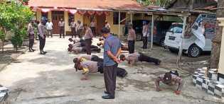 Provos Beri Tindakan Disiplin Bagi Personel Polres Karo yang Tidak Gunakan Masker