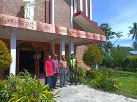 Giat Pam Babinsa di Gereja ST Paulus, Danramil 07/Juhar: Kami Rutin Patroli