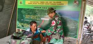 Potret TMMD 107 Kodim 0205/TK di Kacaribu: Periksa Kesehatan dan Penyuluhan ke Warga