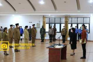 Bupati Karo Lantik 45 Pejabat Administrator Termasuk Camat Berastagi