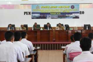 Bupati Karo Kampanye Werviring Penerimaan Calon TNI AL ke Siswa/i SMA