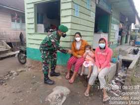 Ingatkan Bahaya Covid 19, Babinsa Koramil 02/TP Rutin Himbau Warga Binaan
