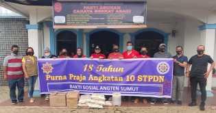 Purna Praja Angkatan ke  X  STPDN dari Sumut Adakan Bakti Sosial di Tiga Panti Asuhan