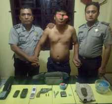 Polsek Bagan Sinembah Meringkus Nirwan, Ada Senjata Api Rakitan dan Narkotika