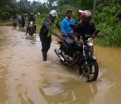 Hujan Deras, Puluhan Rumah di Desa Patiluban Terendam Banjir