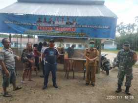Cegah Covid 19, Camat Tanah Pinem: Relawan Selama 24 Jam Jaga Pos  di Pintu Masuk