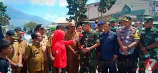 Bupati Karo, Dansatgas, Wakapolres Tinjau Perkembangan Erupsi Sinabung