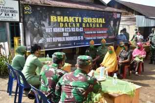 Sambut HUT Korem 023/KS, Danrem Gelar Bhakti Sosial ke Panti Asuhan Sion Dan Vetran