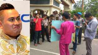 Demo Lingkaran Aktivis Riau Tolak Nassar Artis KDI ke Pelalawan