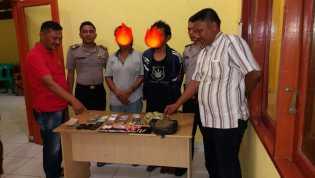 Disaksikan RT, Polsek Panipahan Geledah Rumah Tiurmaida Ditemukan Sabu dan Ganja Kering