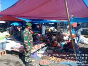 Dandim 0205/TK Terus Ingatkan Babinsa Tingkatkan Patroli Prokes