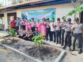 Program Polri Peduli Penghijauan, Polsek Mardingding Gelar Penanaman Pohon