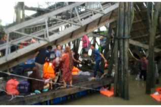Jembatan di Pelabuhan Tanjunggadai Ambruk, 40 Orang Tercebur ke Laut