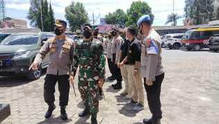 Jaga Sinergitas TNI-Polri, Danrem 023/KS Kunjungi Polres Tanah Karo