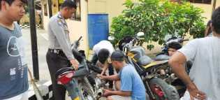 Banyak Aduan Masyarakat, Polsek Mardingding Gekar Razia Sepeda Motor Knalpot Racing