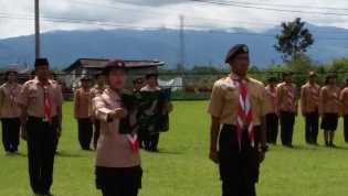 Kodim 0205/TK Berikan Pembinaan Pramuka Saka Wira Kartika ke Siswa/i SMA-SMK se-Karo