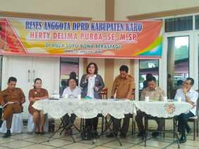 Agenda Tahun 2020, Anggota DPRD Karo Herty Delima Purba Gelar Reses di Berastagi