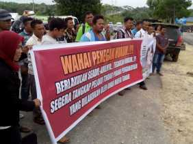 Aksi Damai di Mapolres Rohil, Ini Tuntutan  Kelompok Tani Jaya Abadi