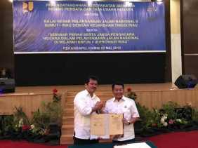 B2PJN II Sumut - Riau dan Kejati Teken MoU Terkait Proses Pendampingan