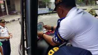BRPS Pekanbaru Imbau Pemudik Gunakan Angkutan yang Terpasang Stiker Laik Jalan