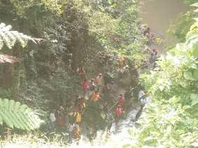 Sudah Dua Hari Lala Milala Belum Ditemukan di Sungai Lau Biang
