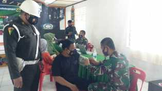 Keluarga Besar Kodim 0205/TK Gelar Vaksin Covid 19 Bersama Keluarga Besar TNI