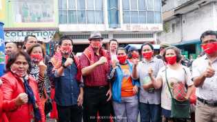 IDE - BUKTI Sebutan Pasangan Iwan Sembiring Depari -  Budianto Surbakti Blusukan ke Pasar Kabanjahe
