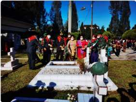 Perayaan HUT Kabupaten Karo ke 75 Tahun yang Sederhana: Ziaran ke Makam Pahlawan