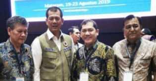 Bupati Karo Paparkan Penanganan Erupsi Gunung Sinabung di Lombok