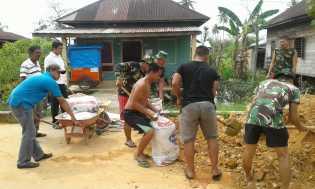 Kegiatan Hari ke 17 TNI-MMD Goro bersama Masyarakat di Sasaran 11 Bagan Hulu