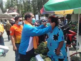 Bupati Karo Tegur Pelaku Usaha Tidak Pakai Masker Saat Tinjau Aktivitas di Objek Wisata Berastagi