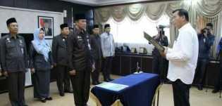 Wali Kota Pekanbaru Kukuhkan 10 Pejabat Eselon II