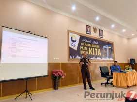 Kejari Karo Sosialisasi Penguatan Jaringan Masyarakat Anti KNN di KPP Pratama Kabanjahe