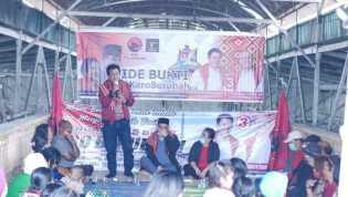 Paslon IDE - BUKTI Sosialisasi Kampanye di Berastagi, Iwan Depari: Siap Bantu Pedagang dan Petani