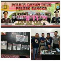 Polsek Bangko Geledah Rumah Iwan, Ditemukan Narkotika Jenis Sabu