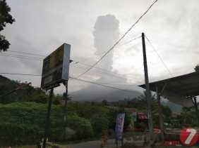Pagi Tadi Gunung Sinabung Kembali Erupsi Durasi 6 Menit, Ini Imbauan PVMBG Kepada Masyarakat
