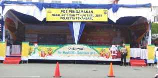 Polresta Pekanbaru Gelar Pengamanan Natal dan Tahun Baru 2019