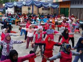 HUT ke II, Kelurahan Pembatuan Gelar Senam Sehat bersama Ribuan Masyarakat