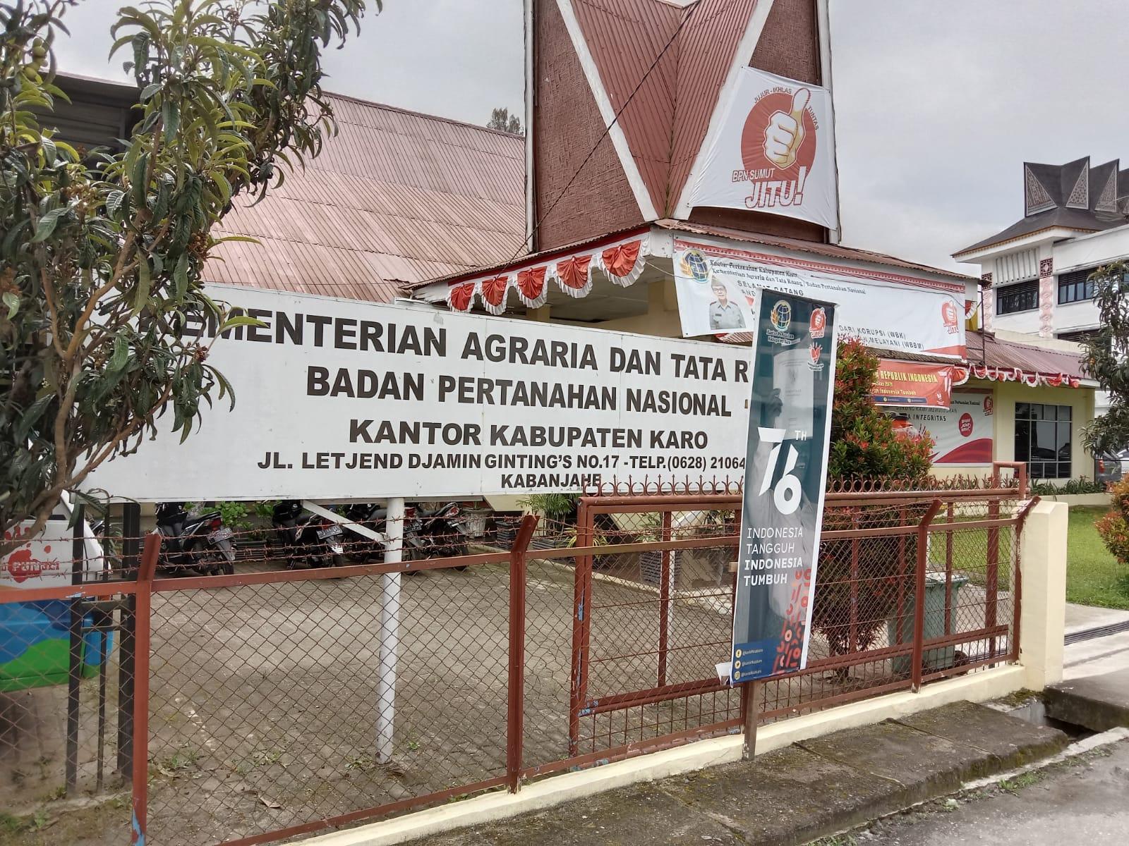 Kepala BPN Karo: Hak Guna Usaha Pt BUK Sudah Sesuai Prosedur