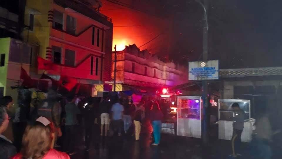 Ratusan Kios di Pajak Tingkat Berastagi Ludes Terbakar, Kapolsek: Masih Dalam Penyelidikan