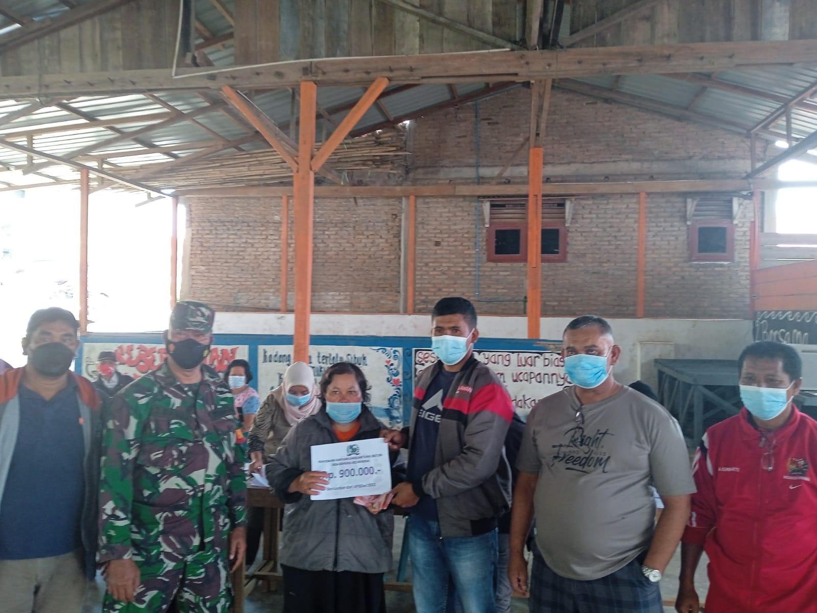 Ratusan KK Desa Gongsol Terima BLT DD tahap I , II Dan III Thn 2021