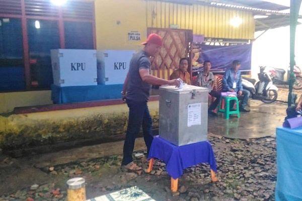 Pagi Tadi Hujan Gerimis, Pemilih di TPS Gubernur Riau Baru 7 Orang
