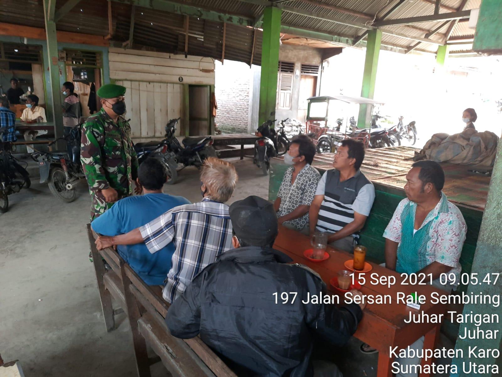 Eratkan Persaudaraan, Babinsa Koramil 07/JH Komsos Bersama Masyarakat
